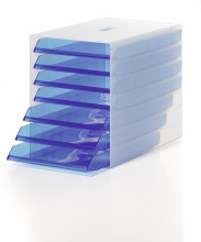 TRANSPARENT IDEALBOX Storage Trays for Documents