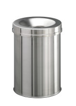 Waste basket stainless steel Safe round 15