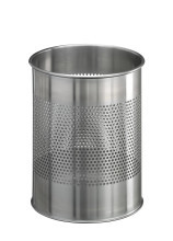 Waste basket stainless steel round 15/P 165