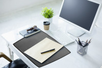 ARTWORK Desk Mat with transparent overlay
