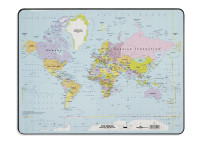 Desk Mat with World Map