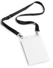 PORTE-BADGE EVENEMENTIEL A6 AVEC LACET TEXTILE DUO