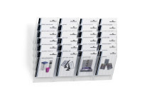WHITE FLEXIBOXX 6 A4 Literature Holder