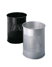 Waste basket metal round 15/P 165