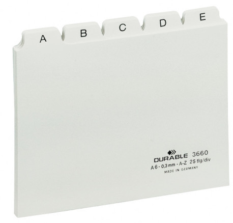 Guide Card Sets with printed A-Z Tabs A6