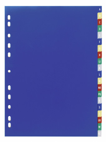 A-Z Index Set with Coloured Tabs