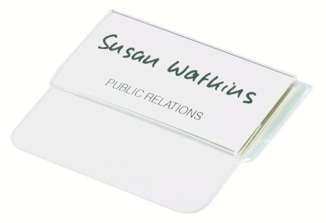 Name Badge with Tuck Flap 40x75mm
