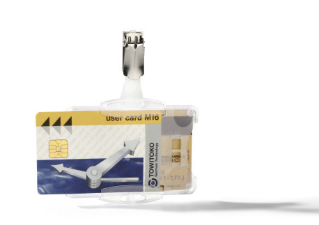 ID Card Holder for Two Cards with Strap Clip