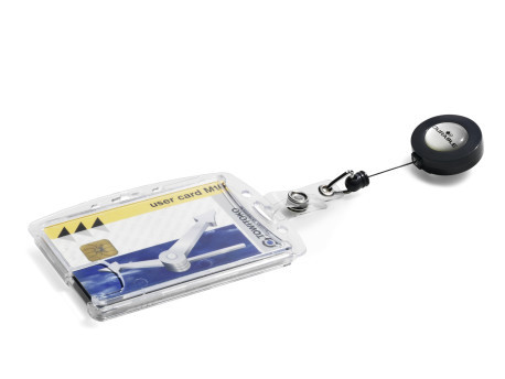 Dual Security Pass Holder with Badge Reel