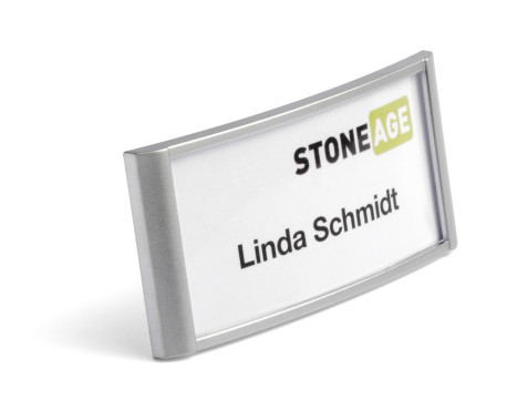 classic Name badge with combi clip 34 x 74 mm